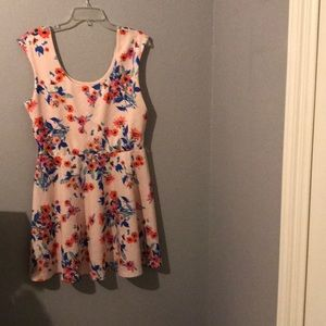 Light pink floral dress